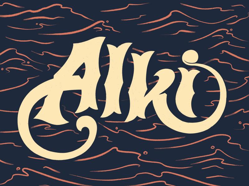 portfolio – lettering – alki